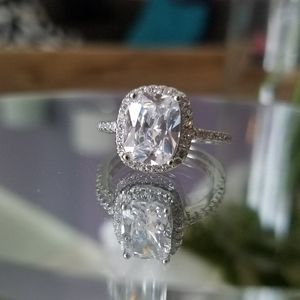 Swarovski Elements Sterling Silver Ring NWT